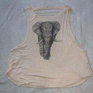 Cut-out Graphic Tank Top